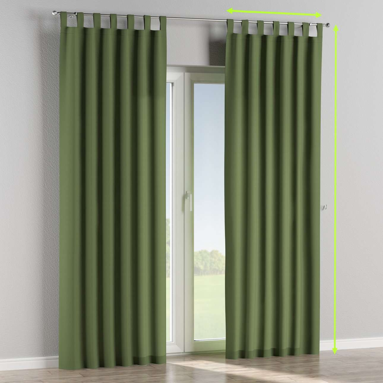 Tab top lined curtains in collection Cotton Panama, fabric: 702-06