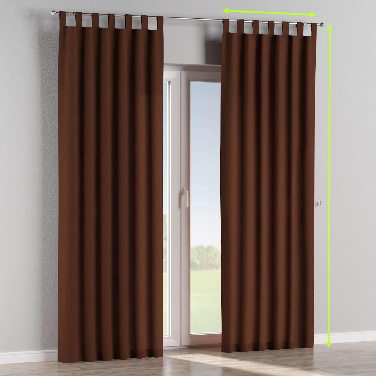 Tab top lined curtains in collection Chenille, fabric: 702-18