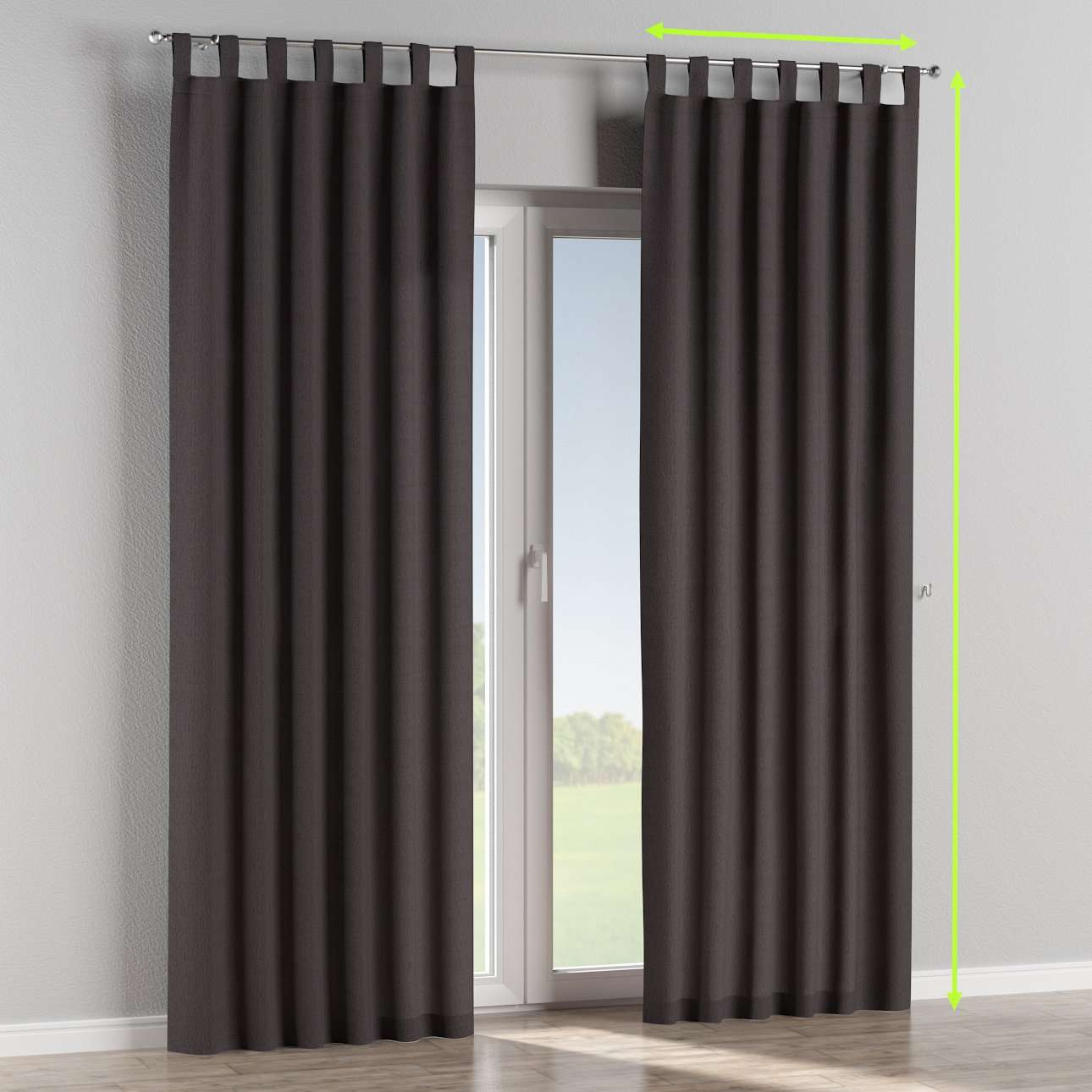Tab top lined curtains in collection Chenille, fabric: 702-20
