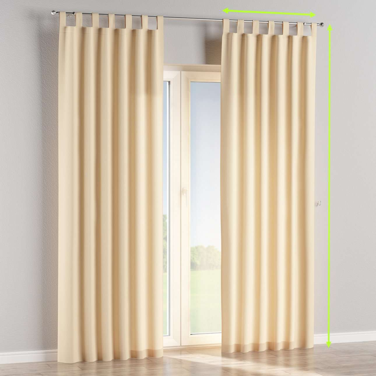 Tab top lined curtains in collection Chenille, fabric: 702-22