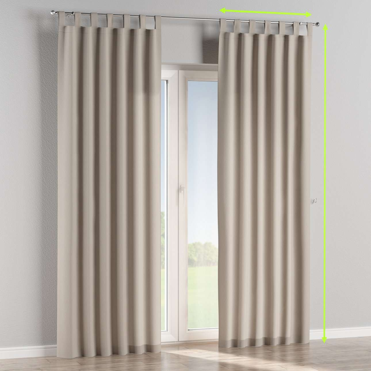 Tab top lined curtains in collection Chenille, fabric: 702-23