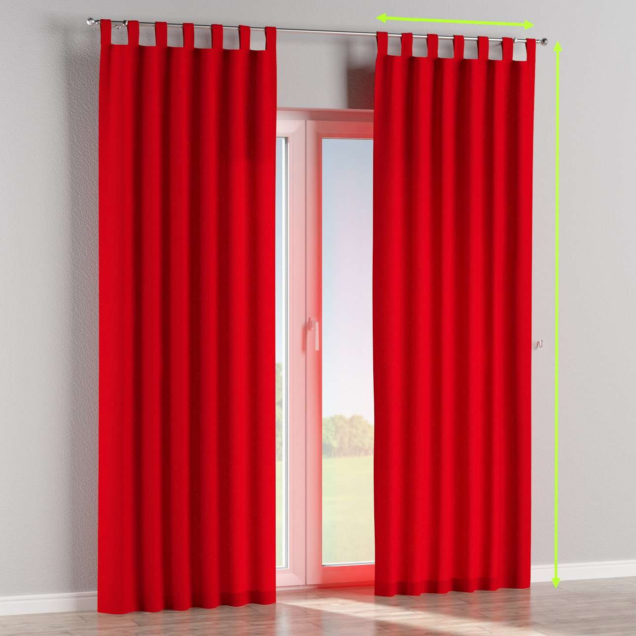 Tab top lined curtains in collection Chenille, fabric: 702-24