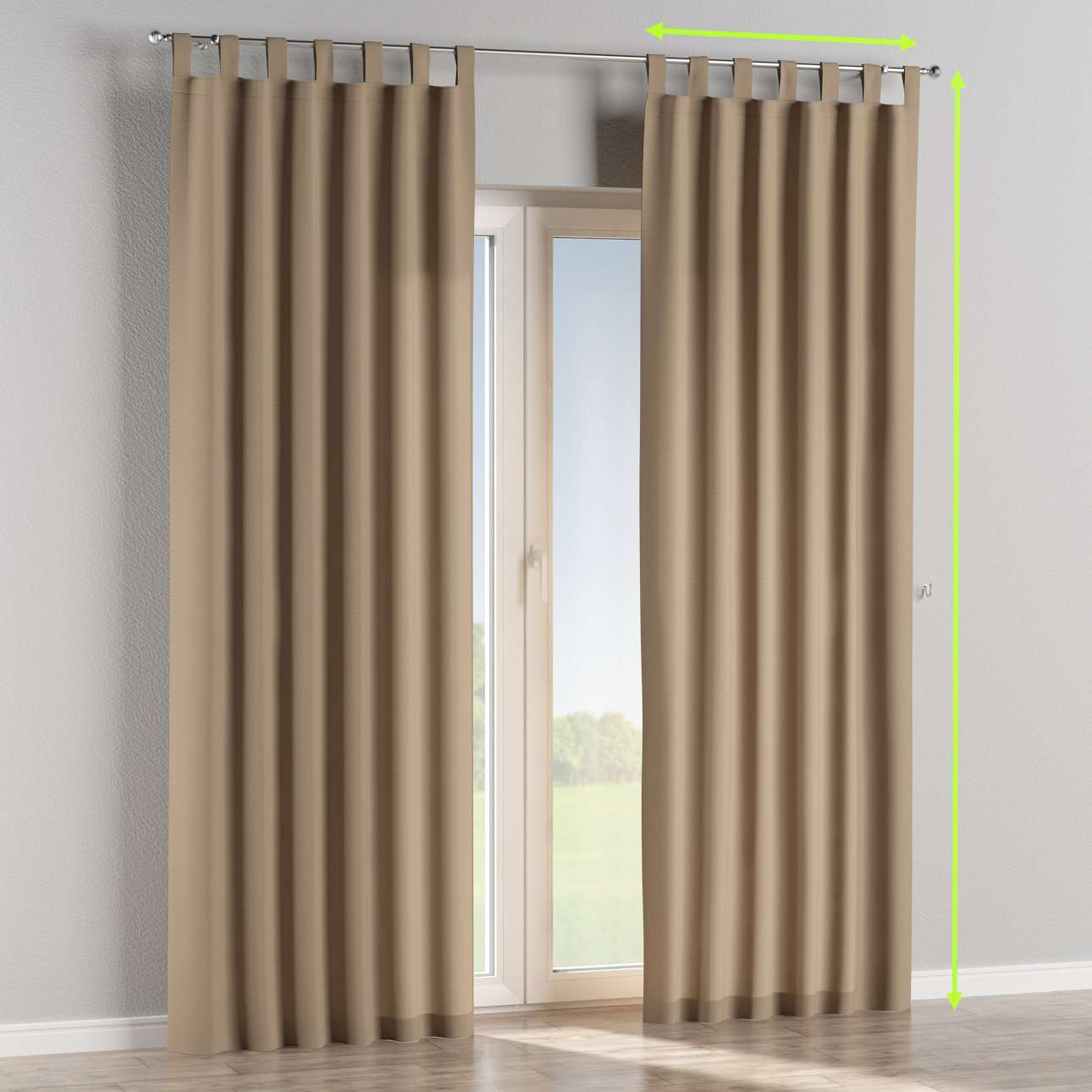Tab top lined curtains in collection Cotton Panama, fabric: 702-28