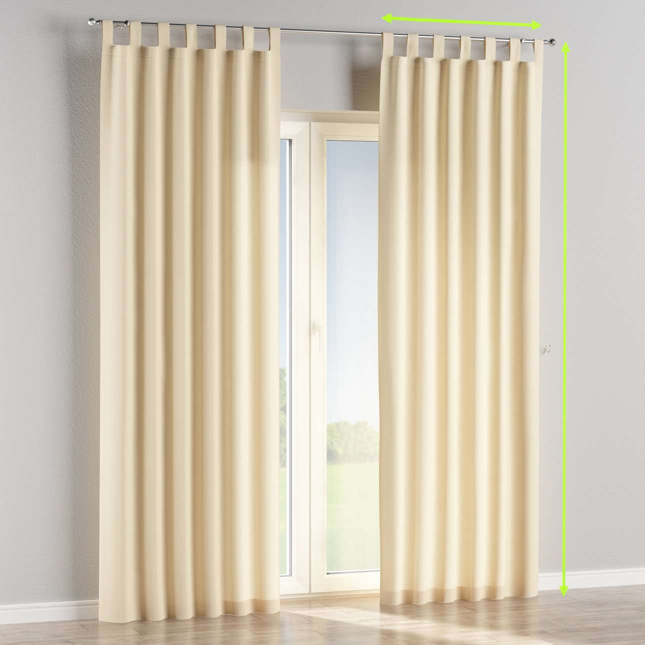 Tab top lined curtains in collection Cotton Panama, fabric: 702-29