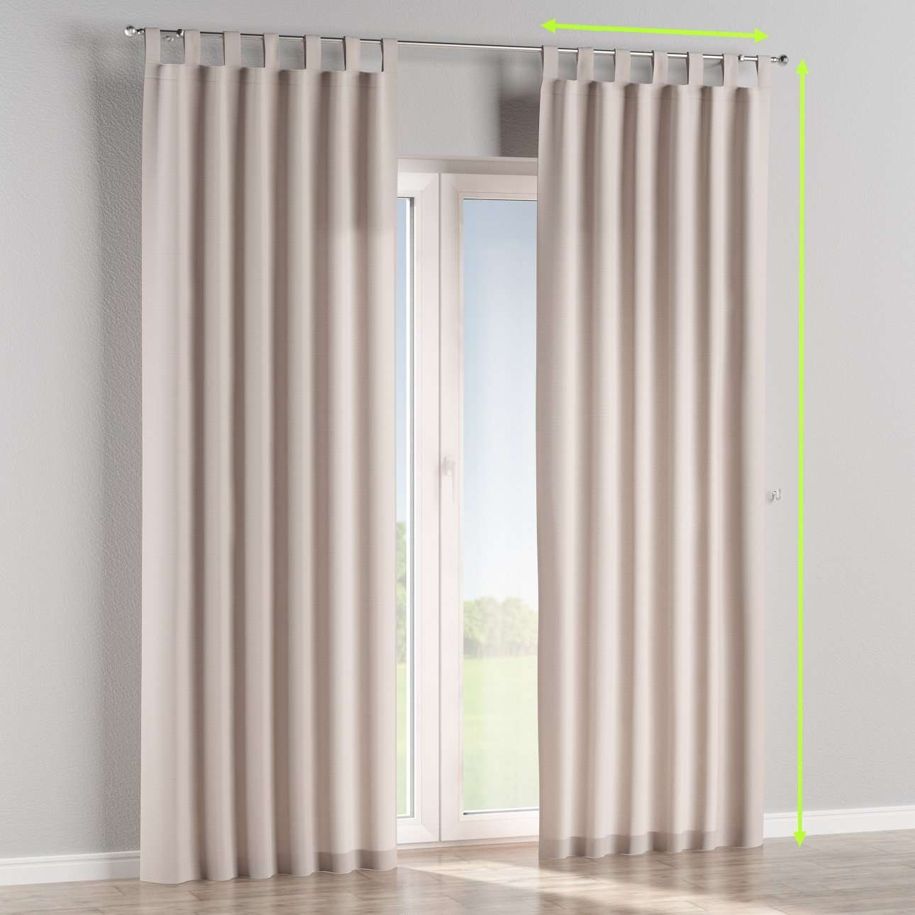Tab top lined curtains in collection Cotton Panama, fabric: 702-31