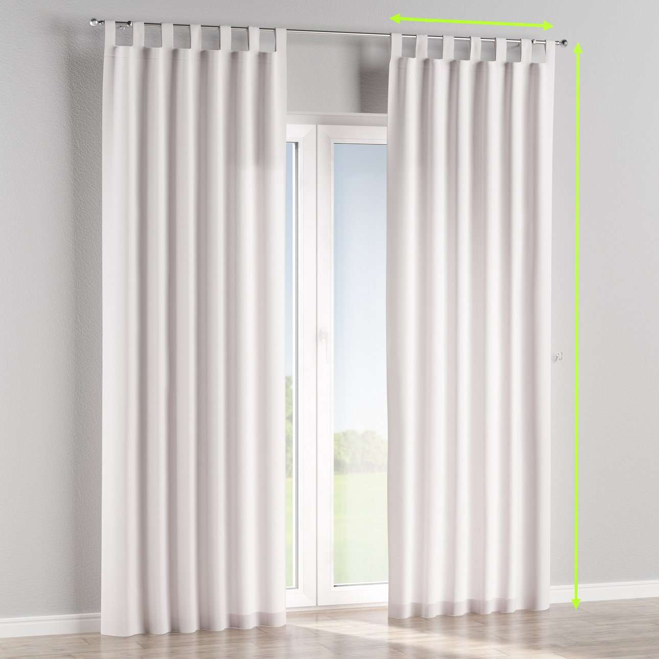Tab top lined curtains in collection Cotton Panama, fabric: 702-34
