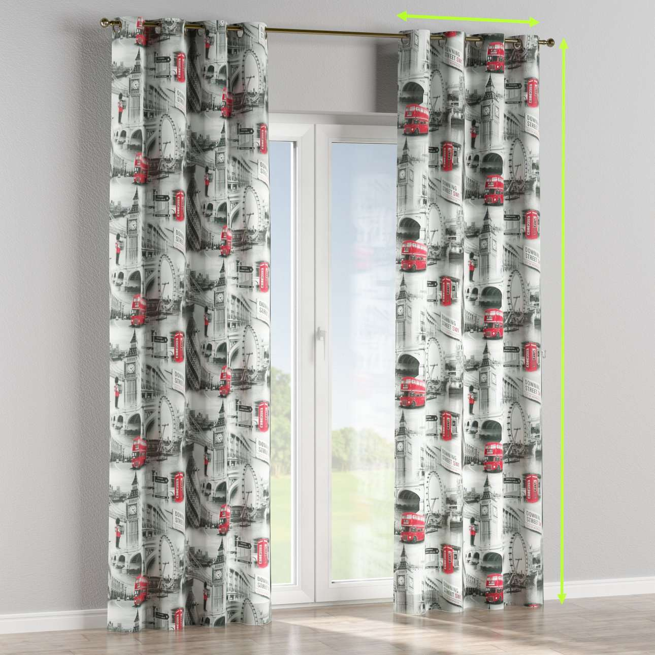Eyelet lined curtains in collection Comic Book & Geo Prints, fabric: 111-04