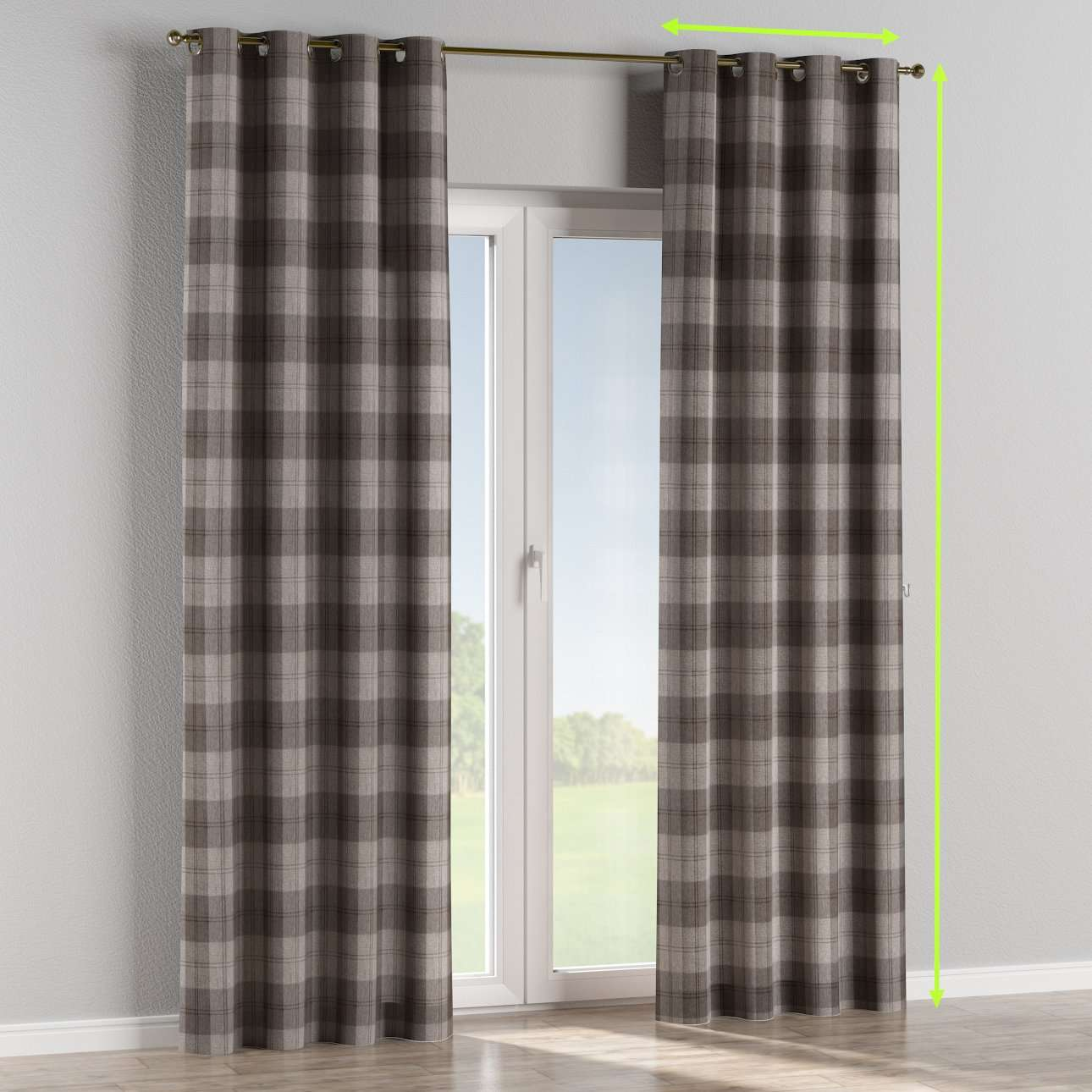 Eyelet lined curtains in collection Edinburgh , fabric: 115-75