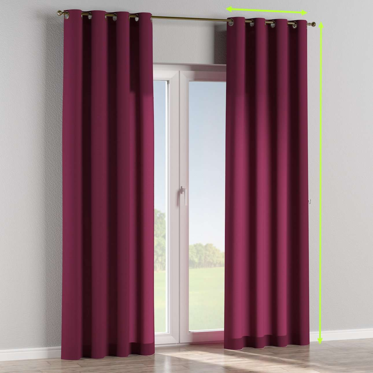Eyelet lined curtains in collection Jupiter, fabric: 127-20