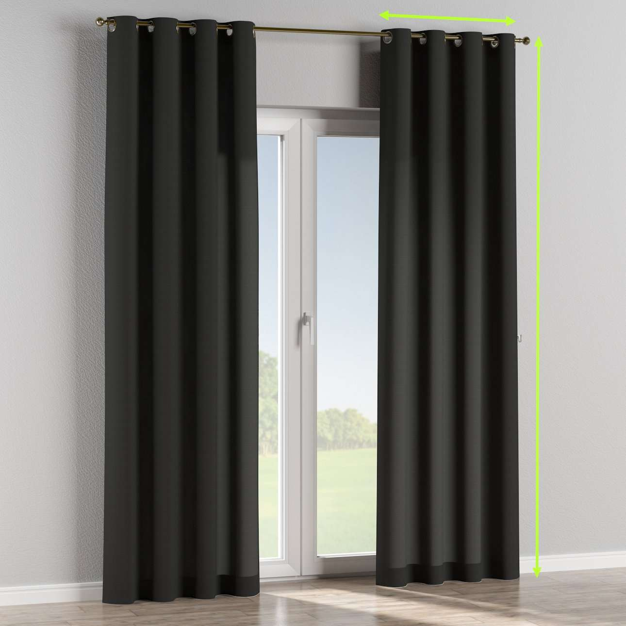 Eyelet lined curtains in collection Jupiter, fabric: 127-99