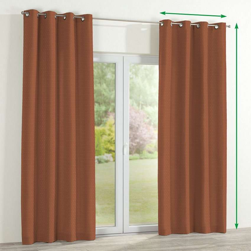 Eyelet lined curtains in collection Victoria, fabric: 130-08