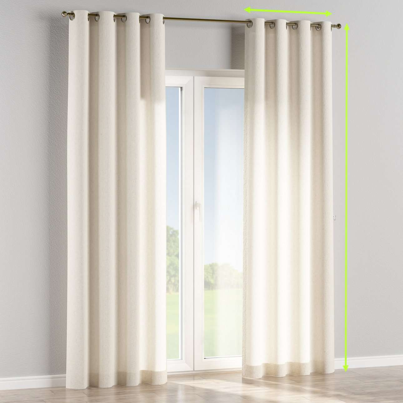 Eyelet lined curtains in collection Loneta , fabric: 133-01