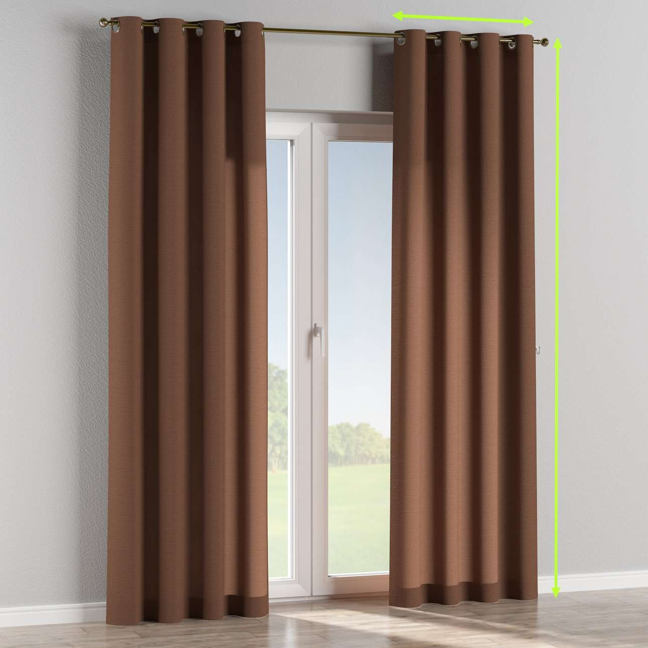 Eyelet lined curtains in collection Loneta , fabric: 133-09