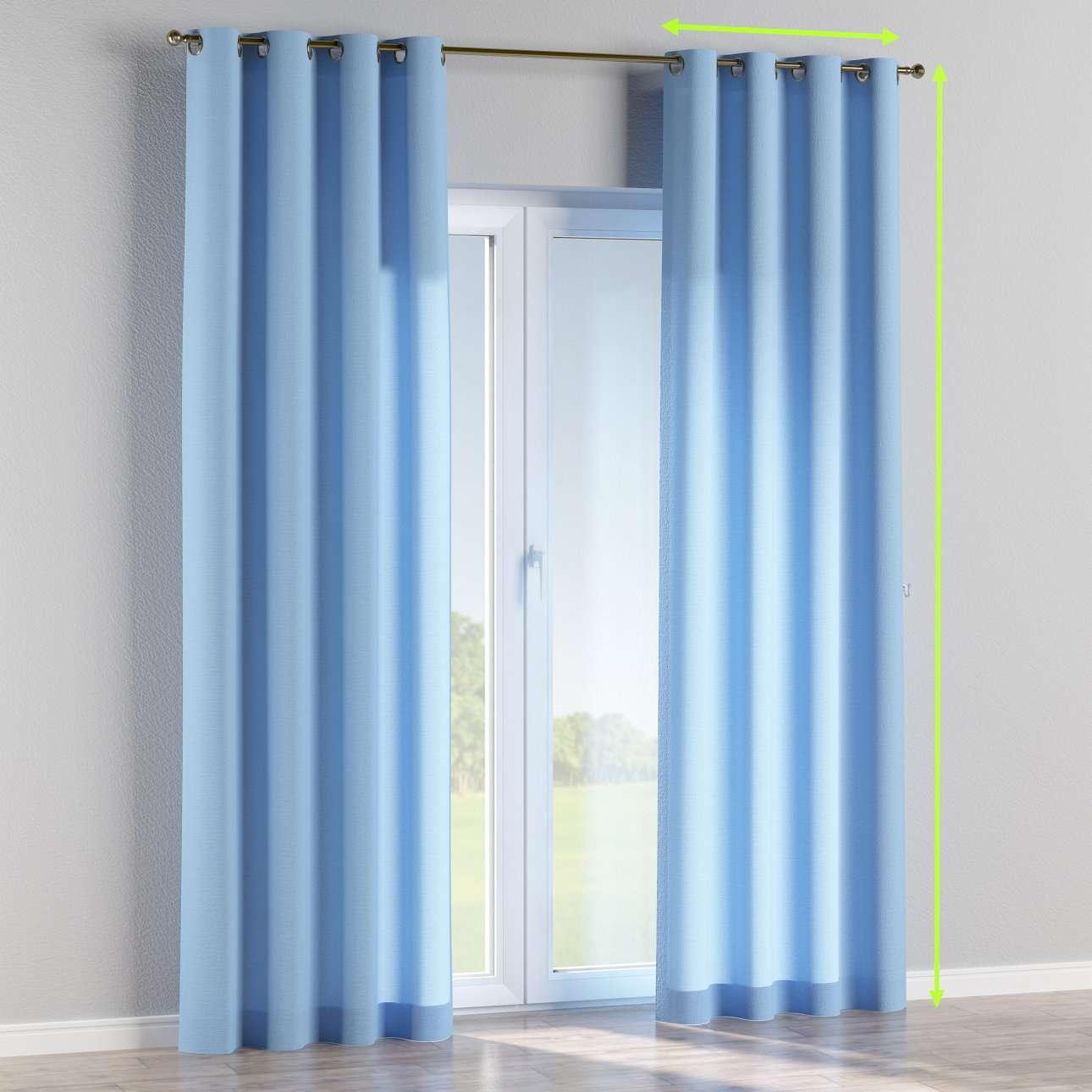 Eyelet lined curtains in collection Loneta , fabric: 133-21
