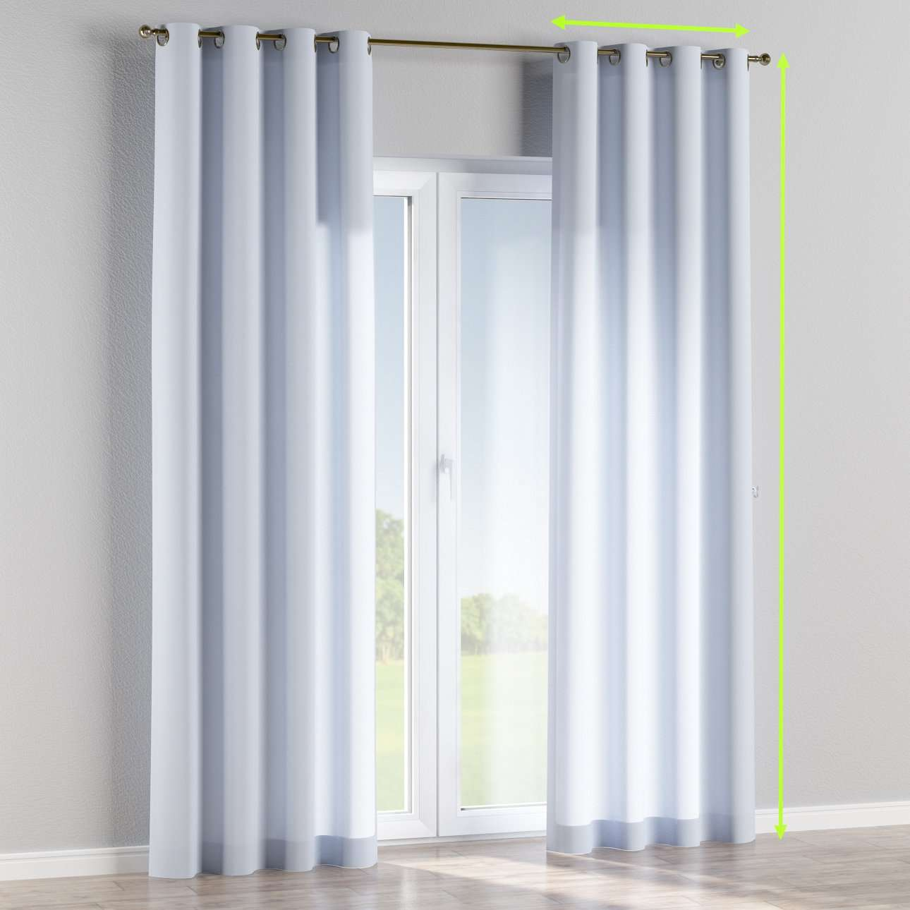 Eyelet lined curtains in collection Loneta , fabric: 133-35