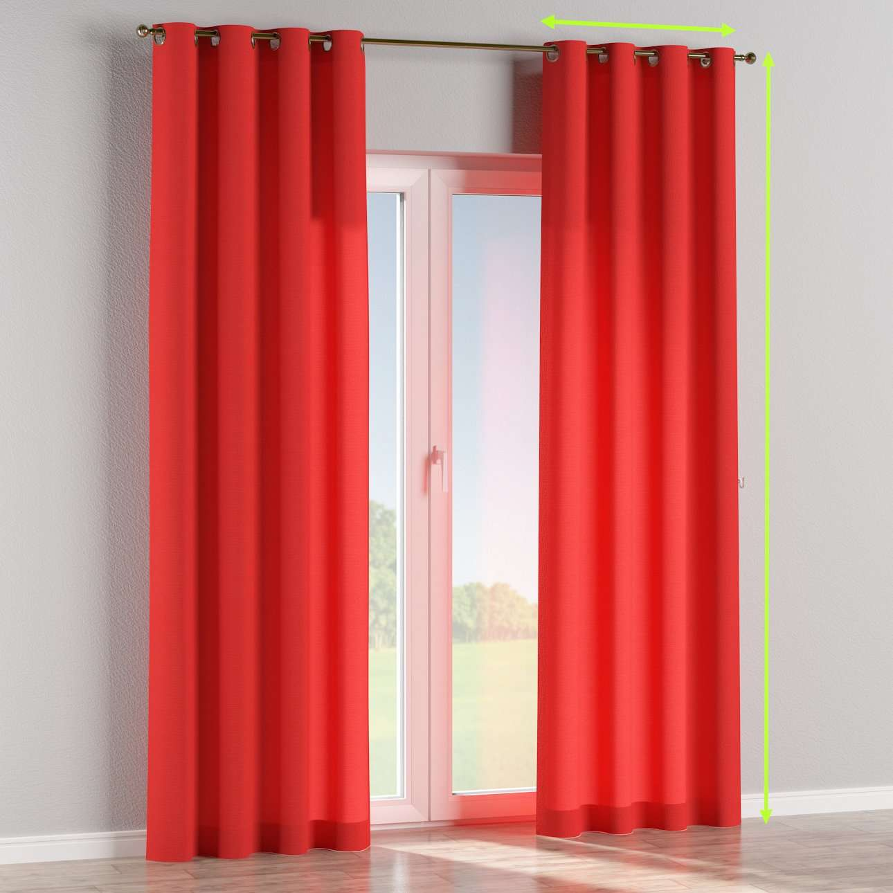 Eyelet lined curtains in collection Loneta , fabric: 133-43