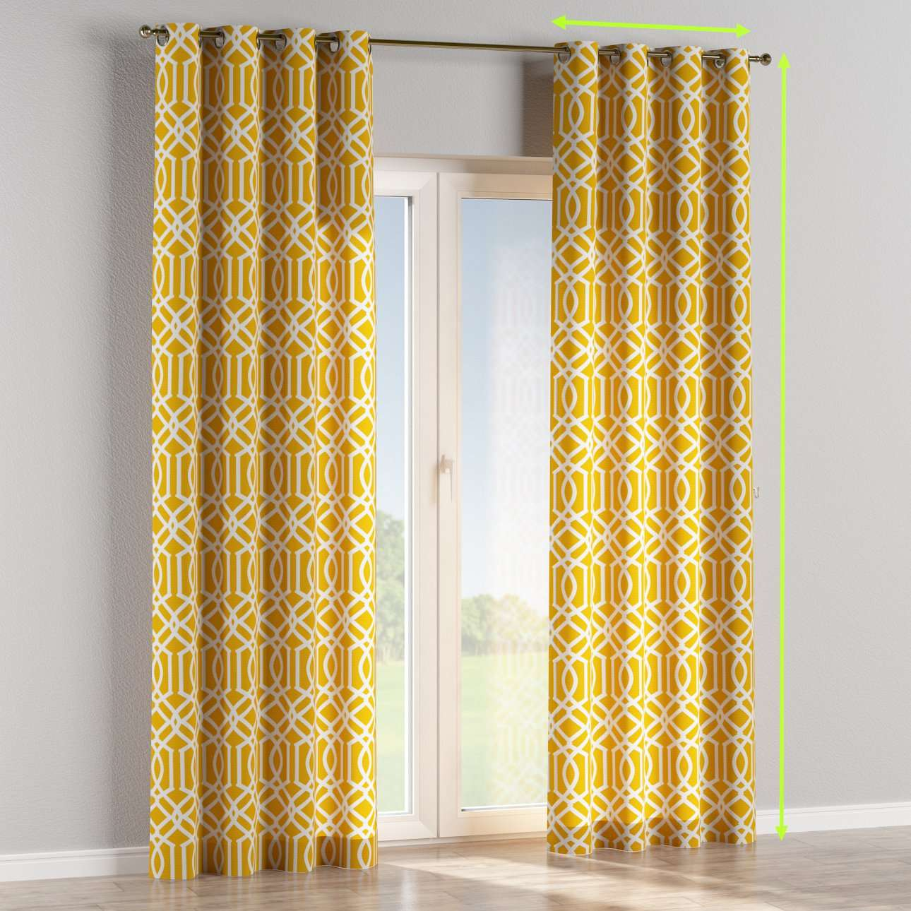 Eyelet lined curtains in collection Comic Book & Geo Prints, fabric: 135-09