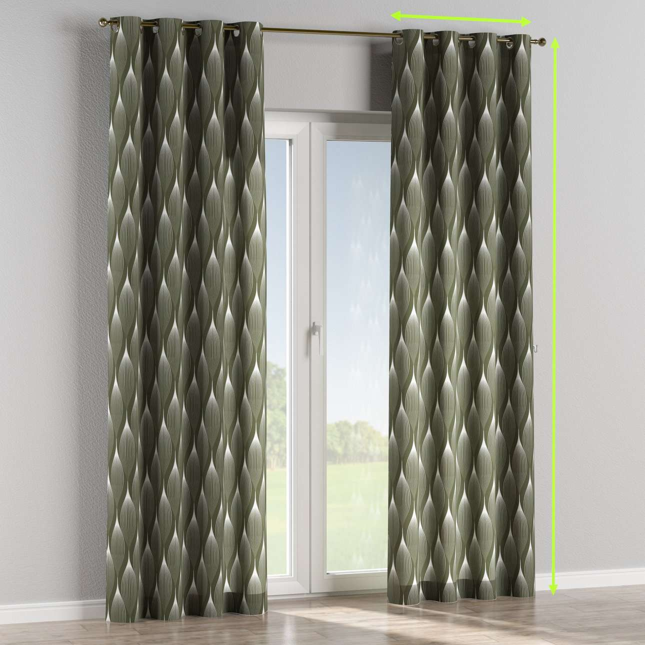 Eyelet lined curtains in collection Freestyle, fabric: 135-20