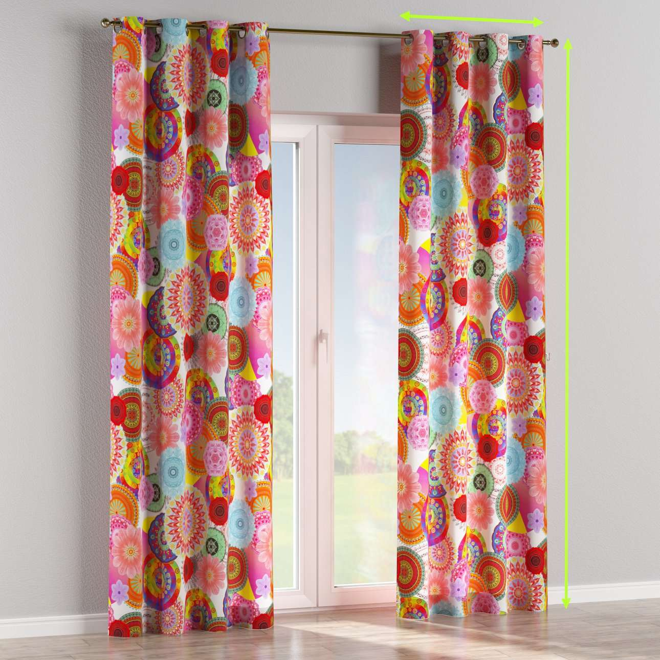 Eyelet lined curtains in collection Comic Book & Geo Prints, fabric: 135-22