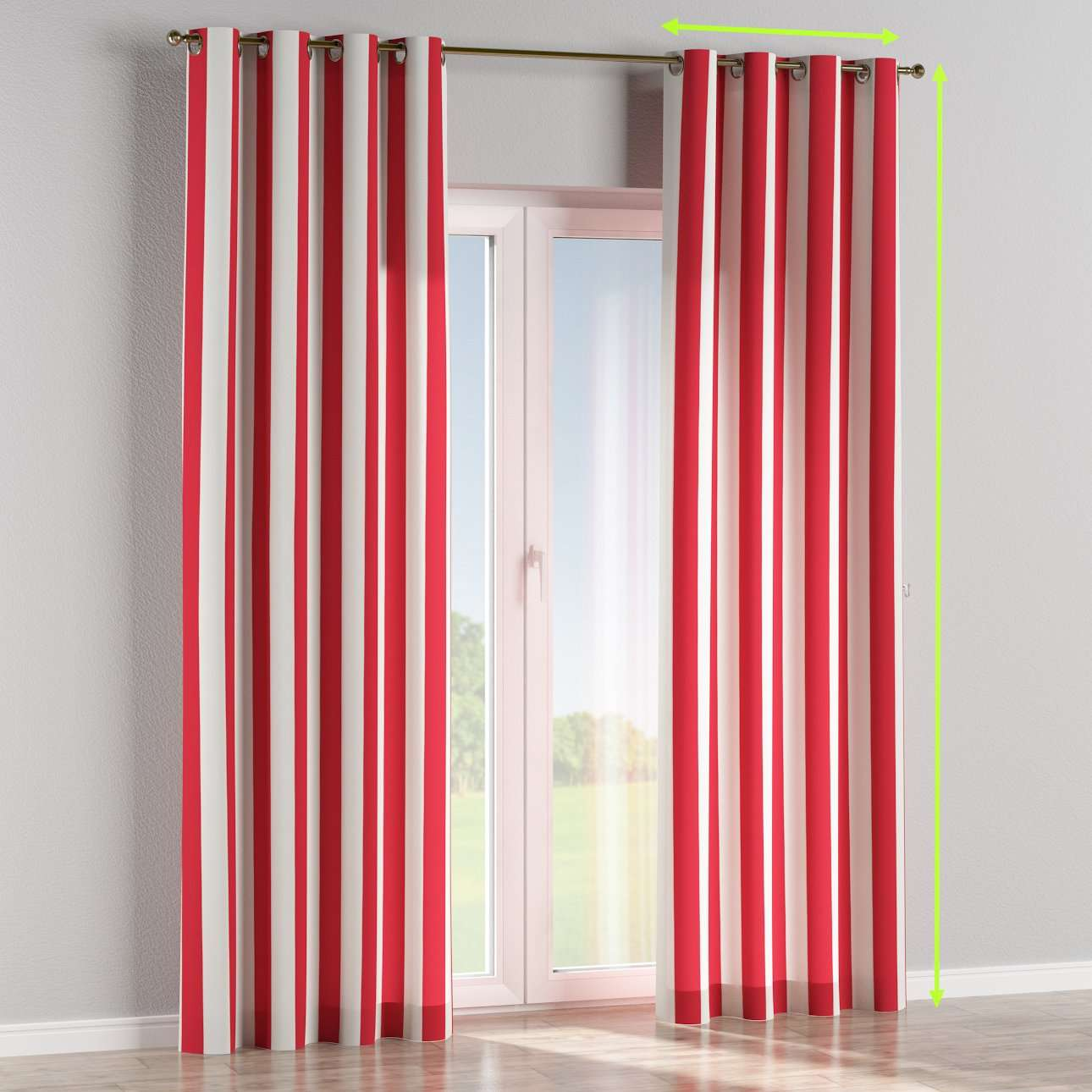 Eyelet lined curtains in collection Comic Book & Geo Prints, fabric: 137-54