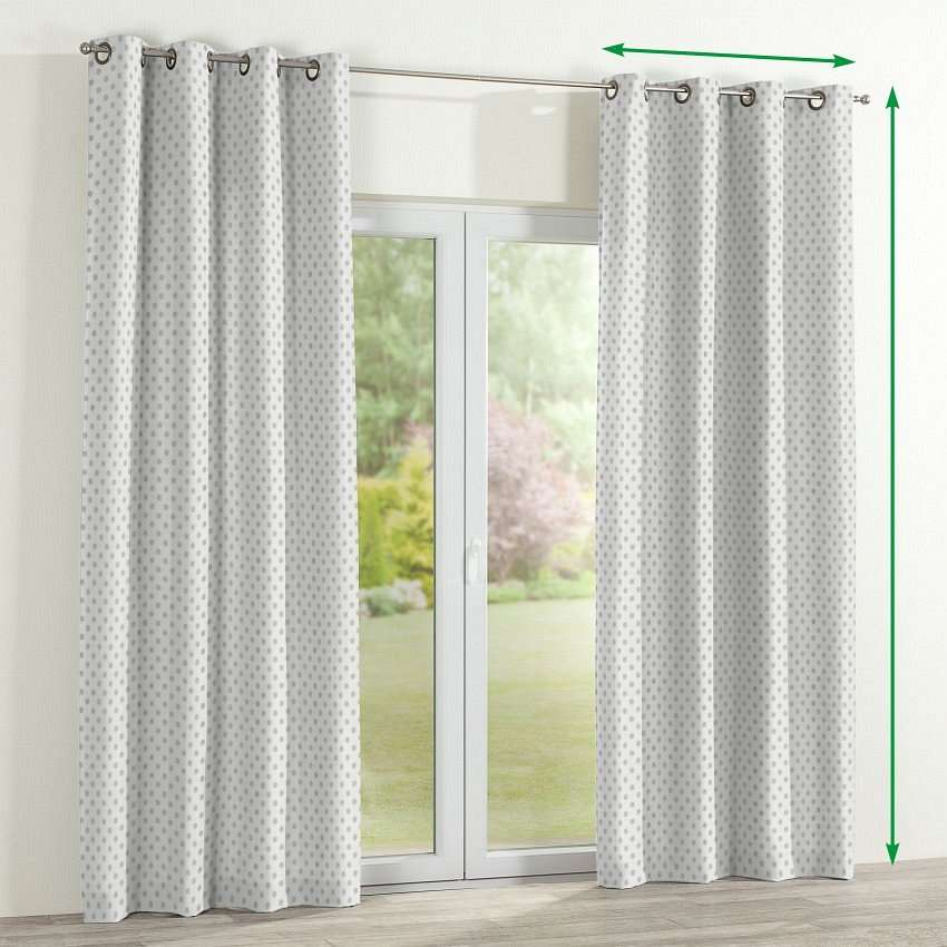 Eyelet lined curtains in collection Ashley, fabric: 137-68