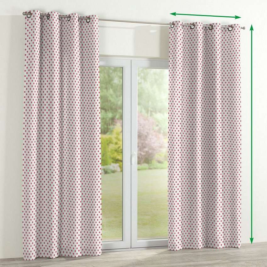Eyelet lined curtains in collection Ashley, fabric: 137-70