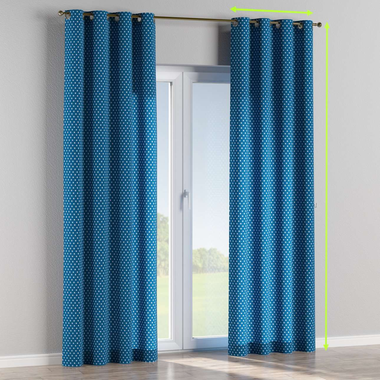 Eyelet lined curtains in collection Ashley, fabric: 137-72