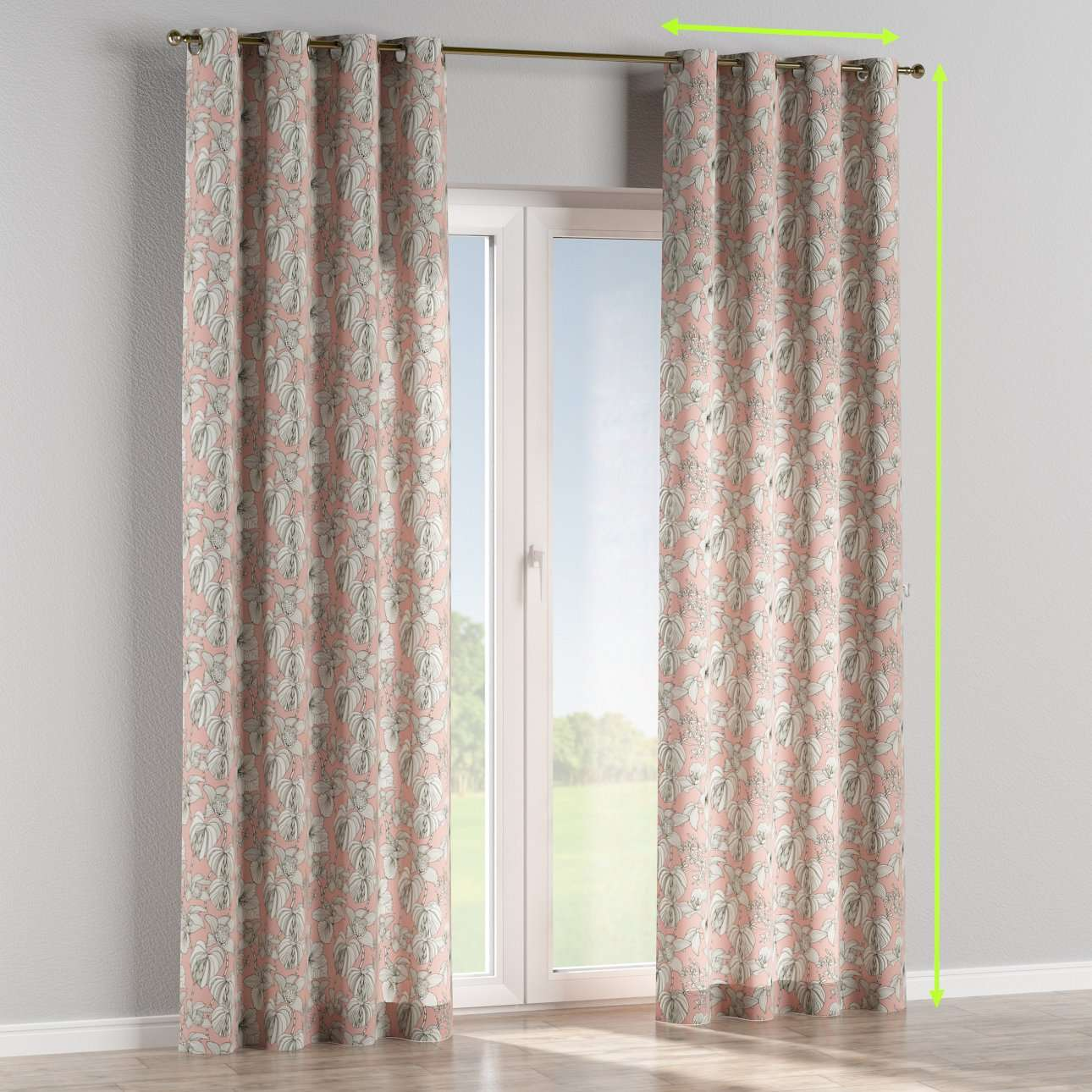 Eyelet lined curtains in collection Brooklyn, fabric: 137-74