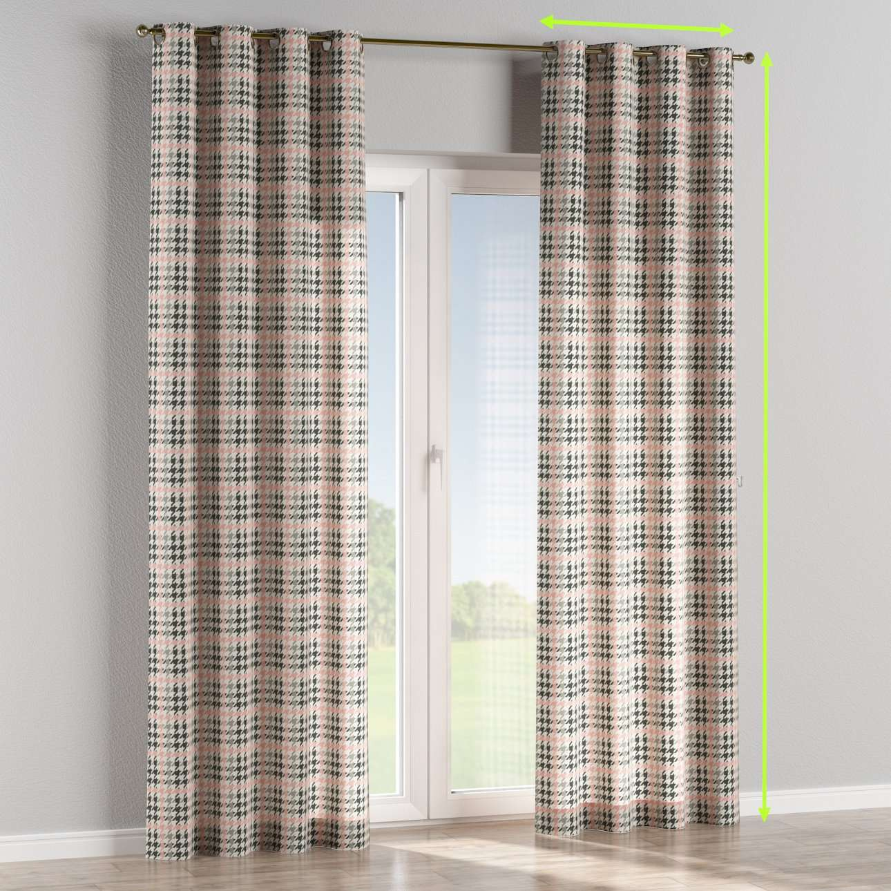 Eyelet lined curtains in collection Brooklyn, fabric: 137-75