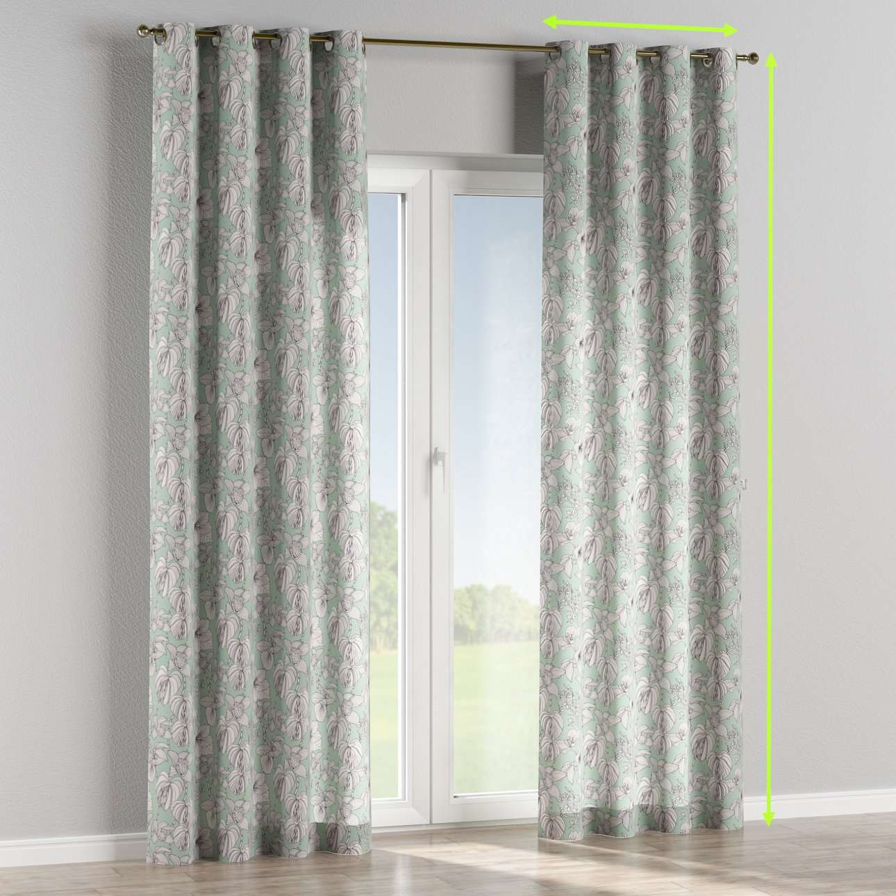 Eyelet lined curtains in collection Brooklyn, fabric: 137-76