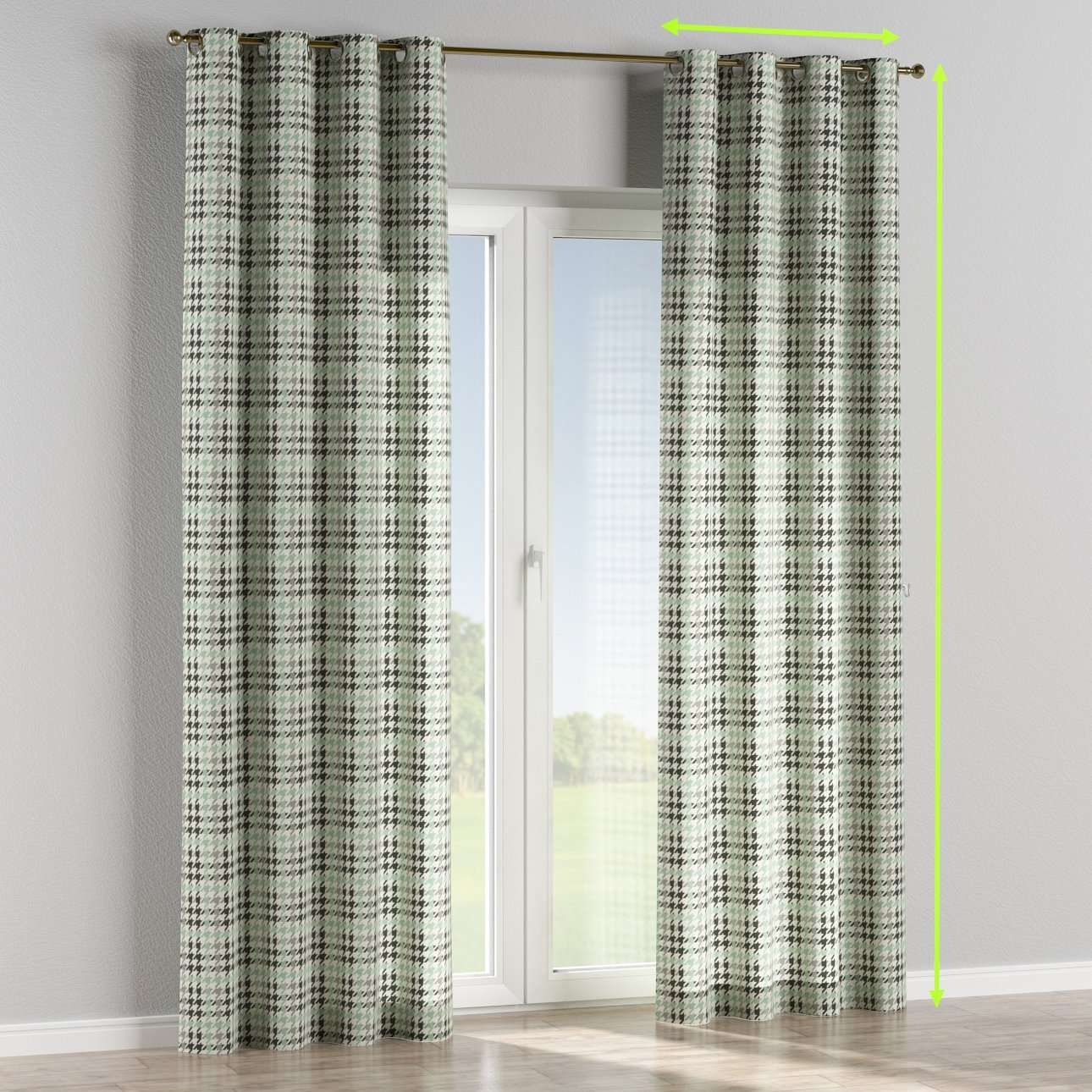 Eyelet lined curtains in collection Brooklyn, fabric: 137-77