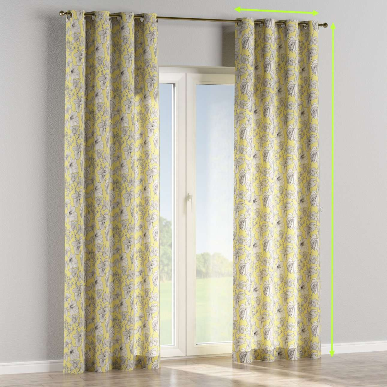 Eyelet lined curtains in collection Brooklyn, fabric: 137-78