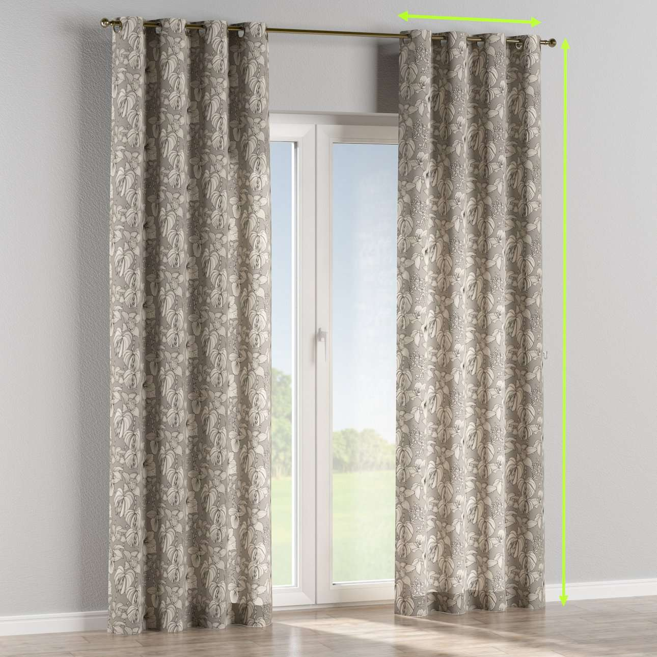 Eyelet lined curtains in collection Brooklyn, fabric: 137-80