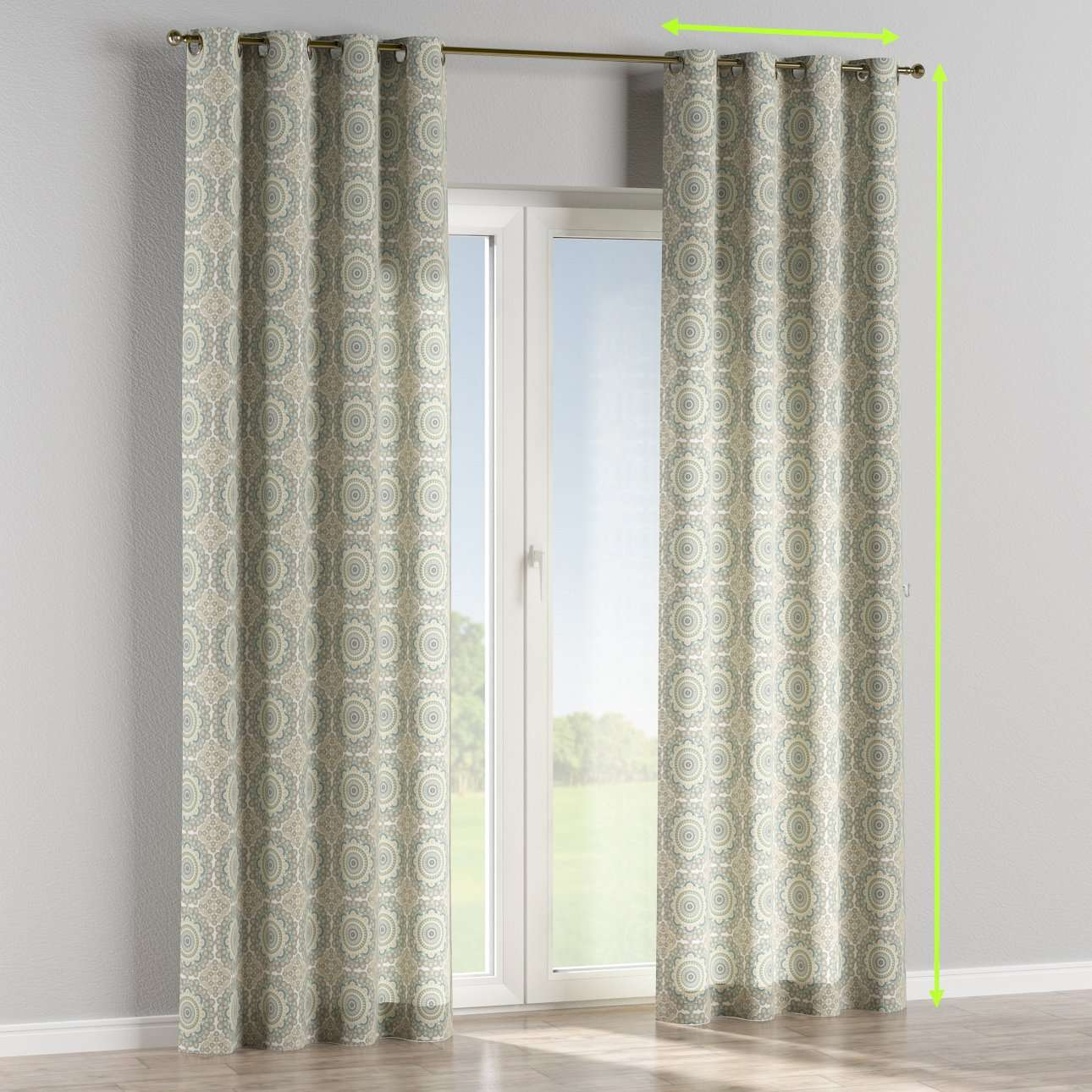 Eyelet lined curtains in collection Comic Book & Geo Prints, fabric: 137-84