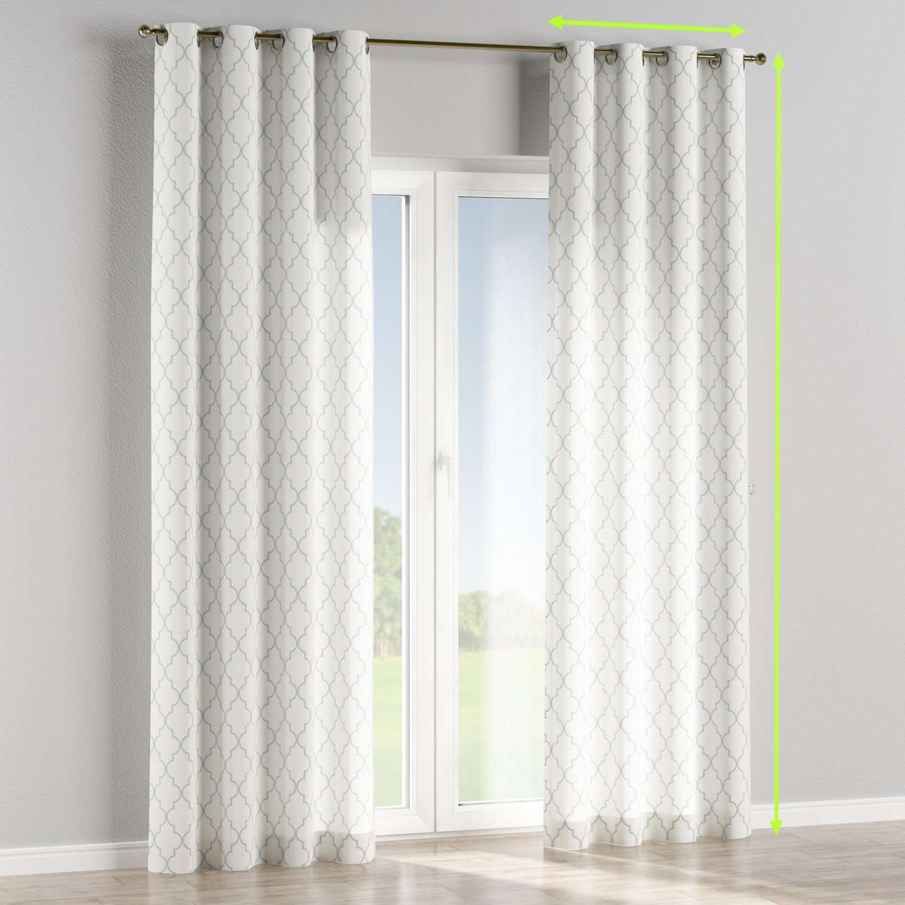 Eyelet lined curtains in collection Comics/Geometrical, fabric: 137-85