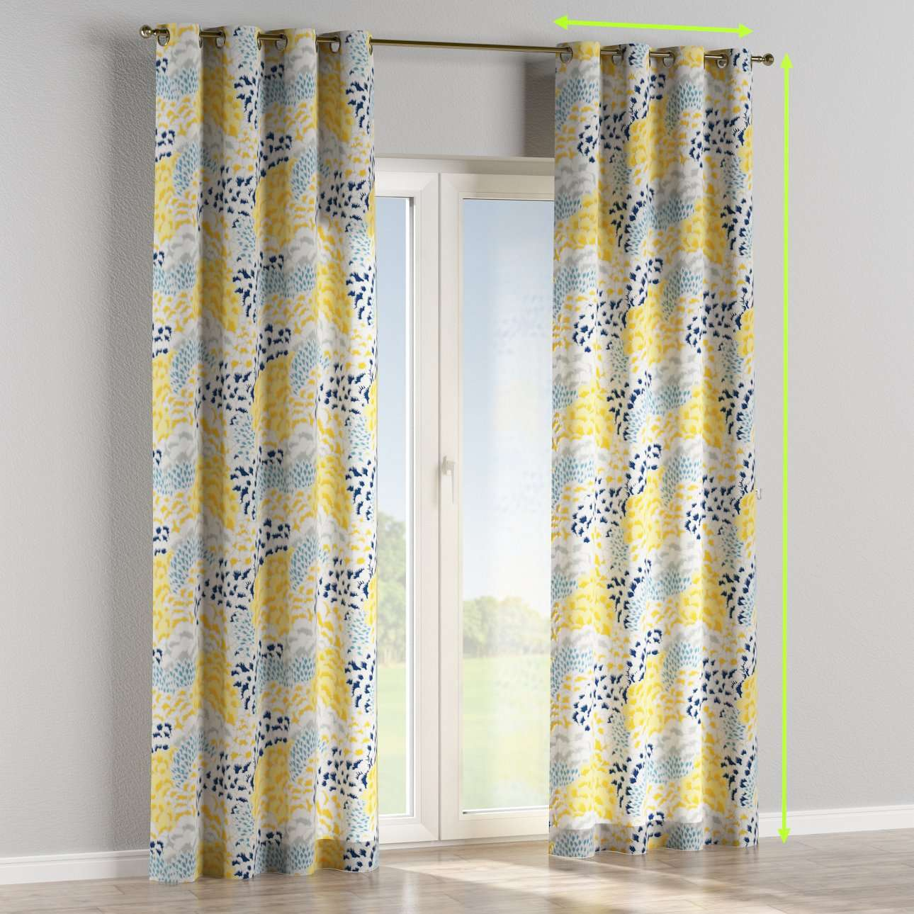 Eyelet lined curtains in collection Brooklyn, fabric: 137-86