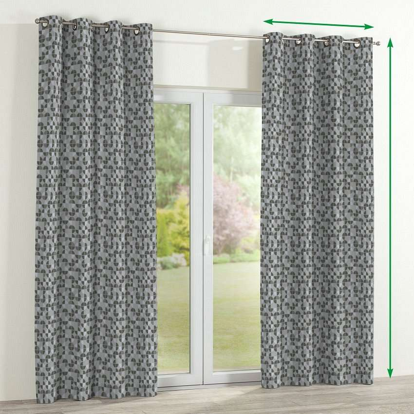 Eyelet lined curtains in collection SALE, fabric: 138-20