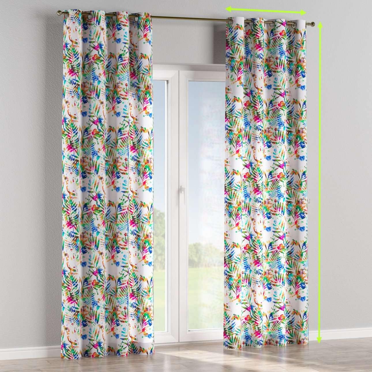 Eyelet lined curtains in collection New Art, fabric: 140-22