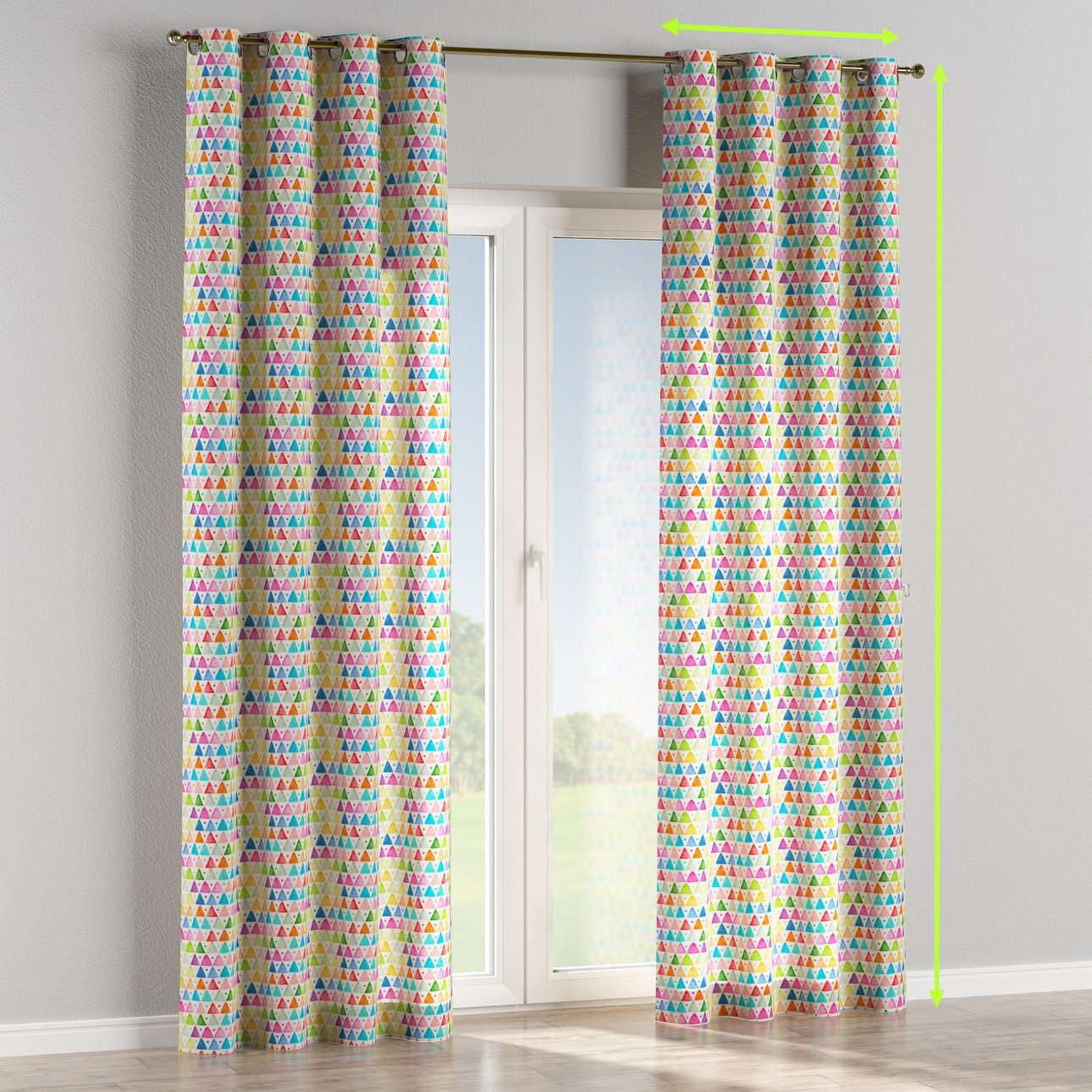 Eyelet lined curtains in collection New Art, fabric: 140-27