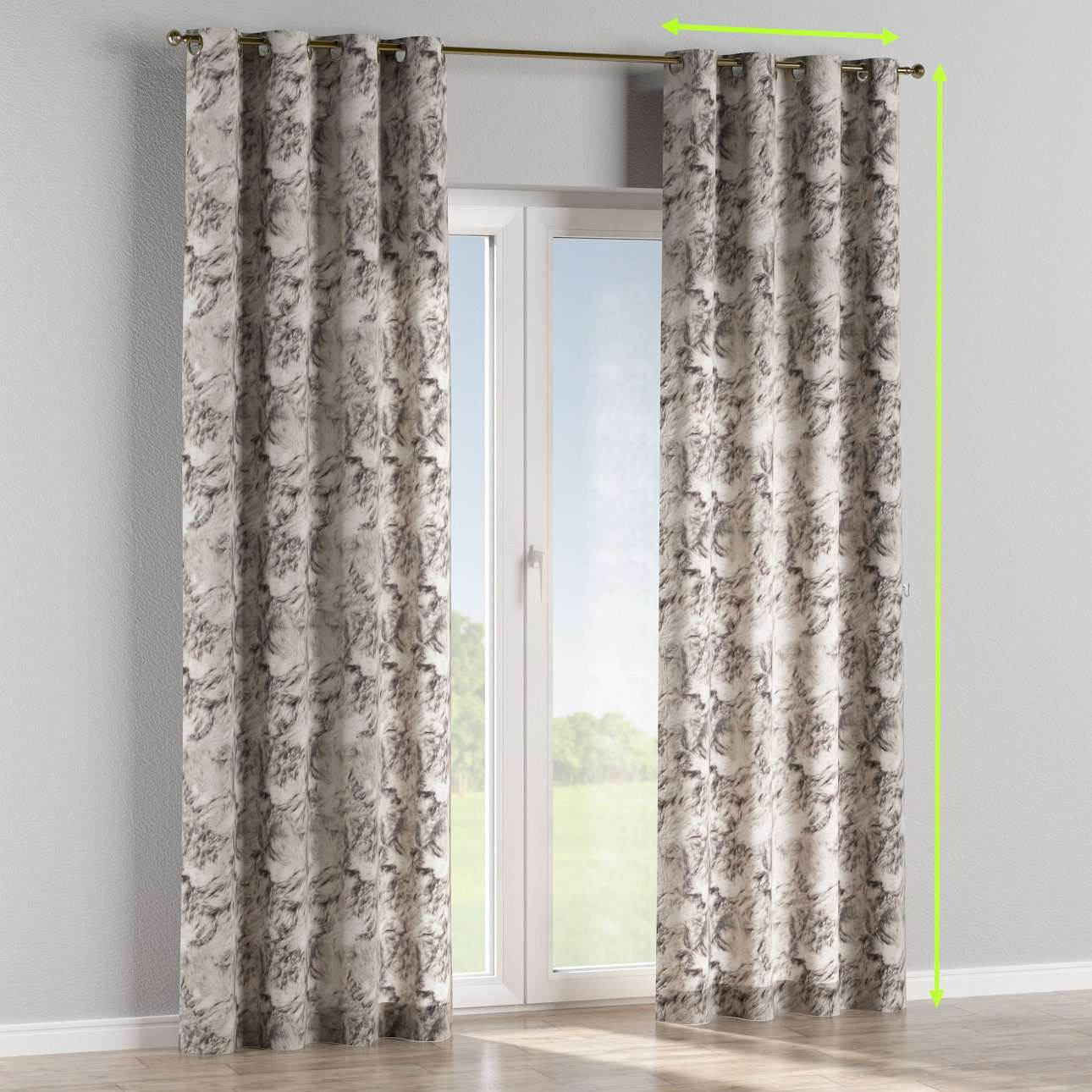 Eyelet lined curtains in collection Norge, fabric: 140-82