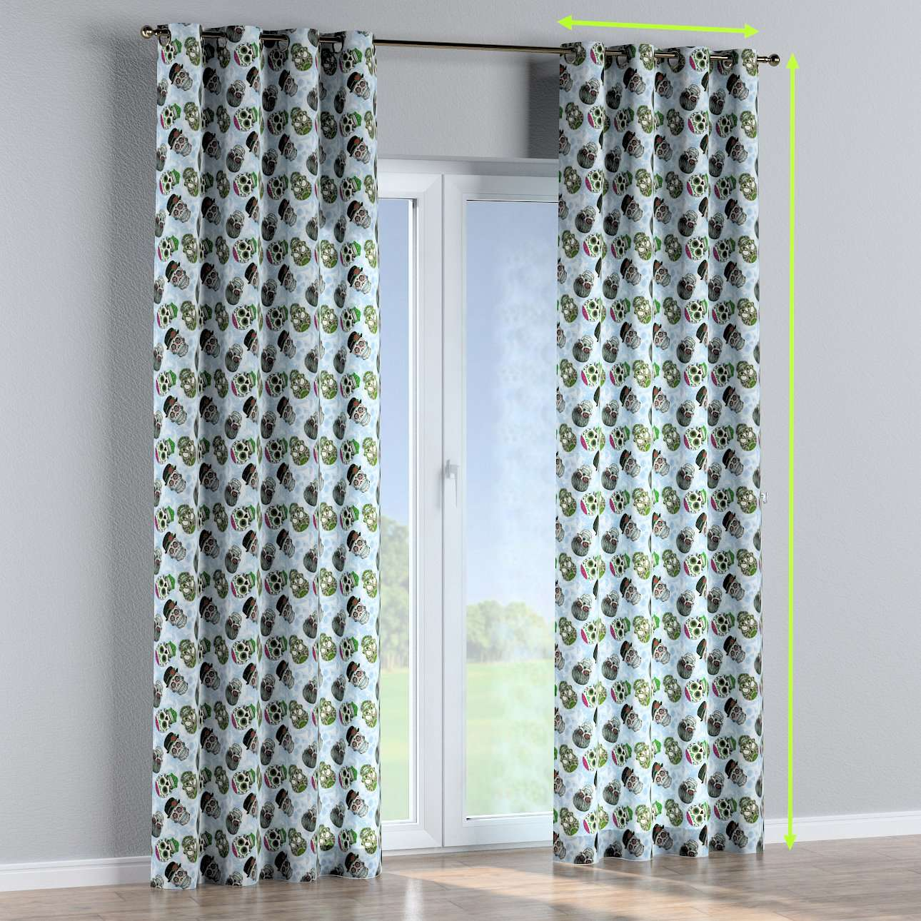 Eyelet lined curtains in collection Freestyle, fabric: 141-01