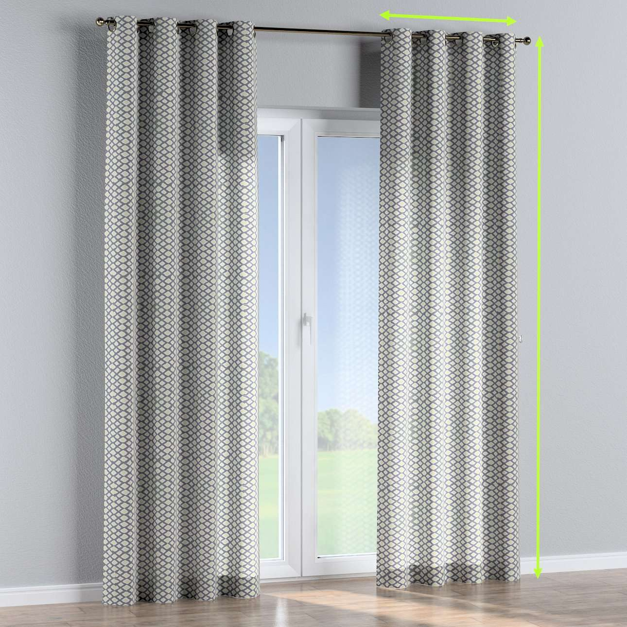 Eyelet lined curtains in collection Comics/Geometrical, fabric: 141-21