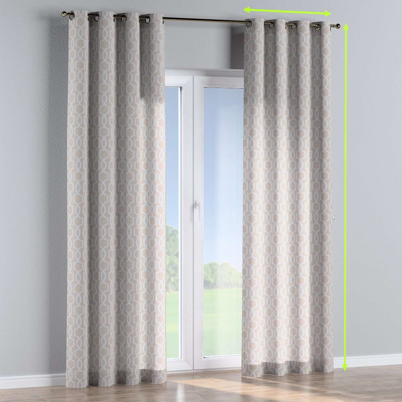 Eyelet lined curtains in collection Comic Book & Geo Prints, fabric: 141-26
