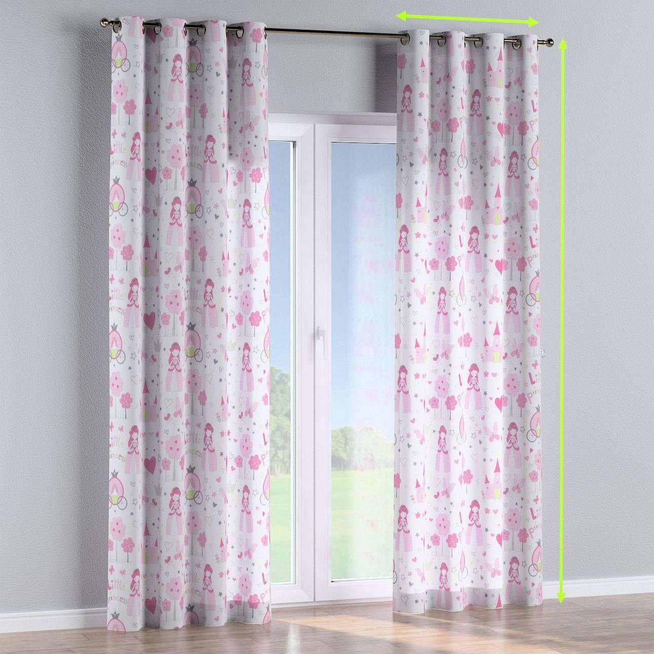 Eyelet lined curtains in collection Little World, fabric: 141-28