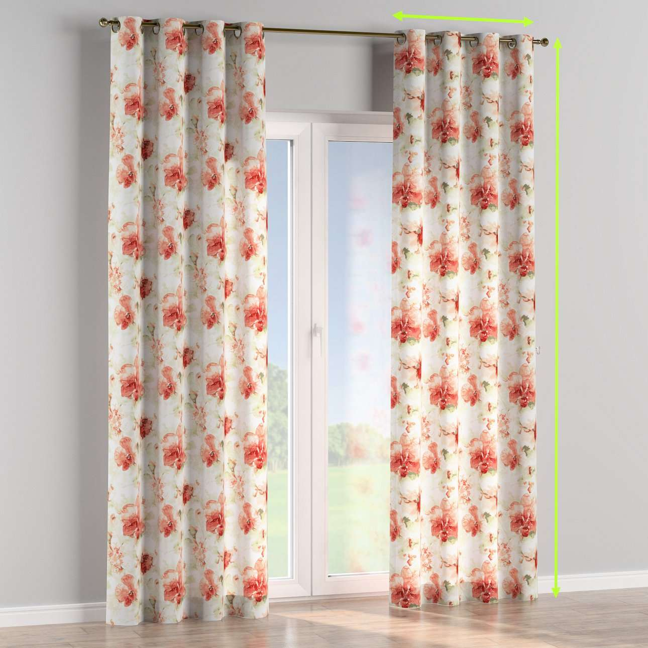 Eyelet lined curtains in collection Acapulco, fabric: 141-34