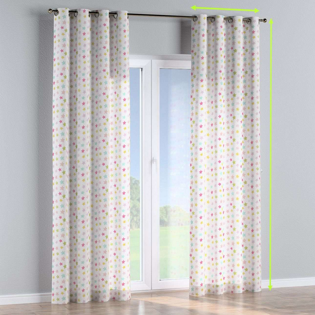 Eyelet lined curtains in collection Little World, fabric: 141-52