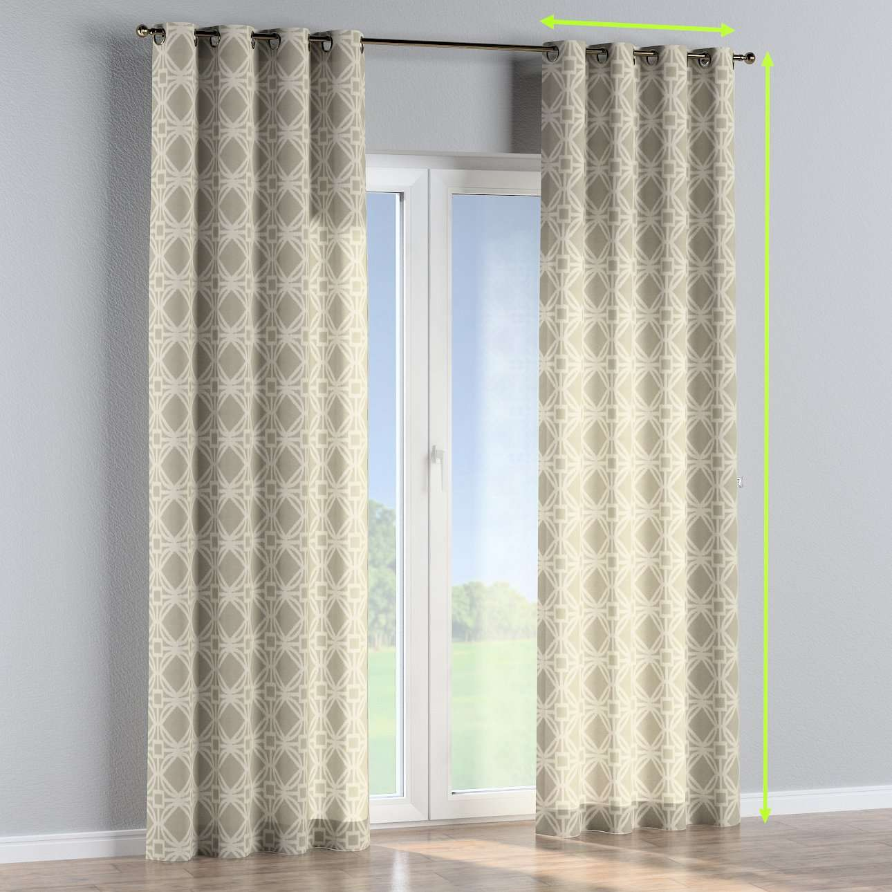 Eyelet lined curtains in collection Comic Book & Geo Prints, fabric: 141-56
