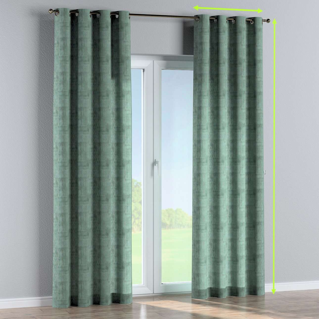 Eyelet lined curtains in collection Comics/Geometrical, fabric: 142-28