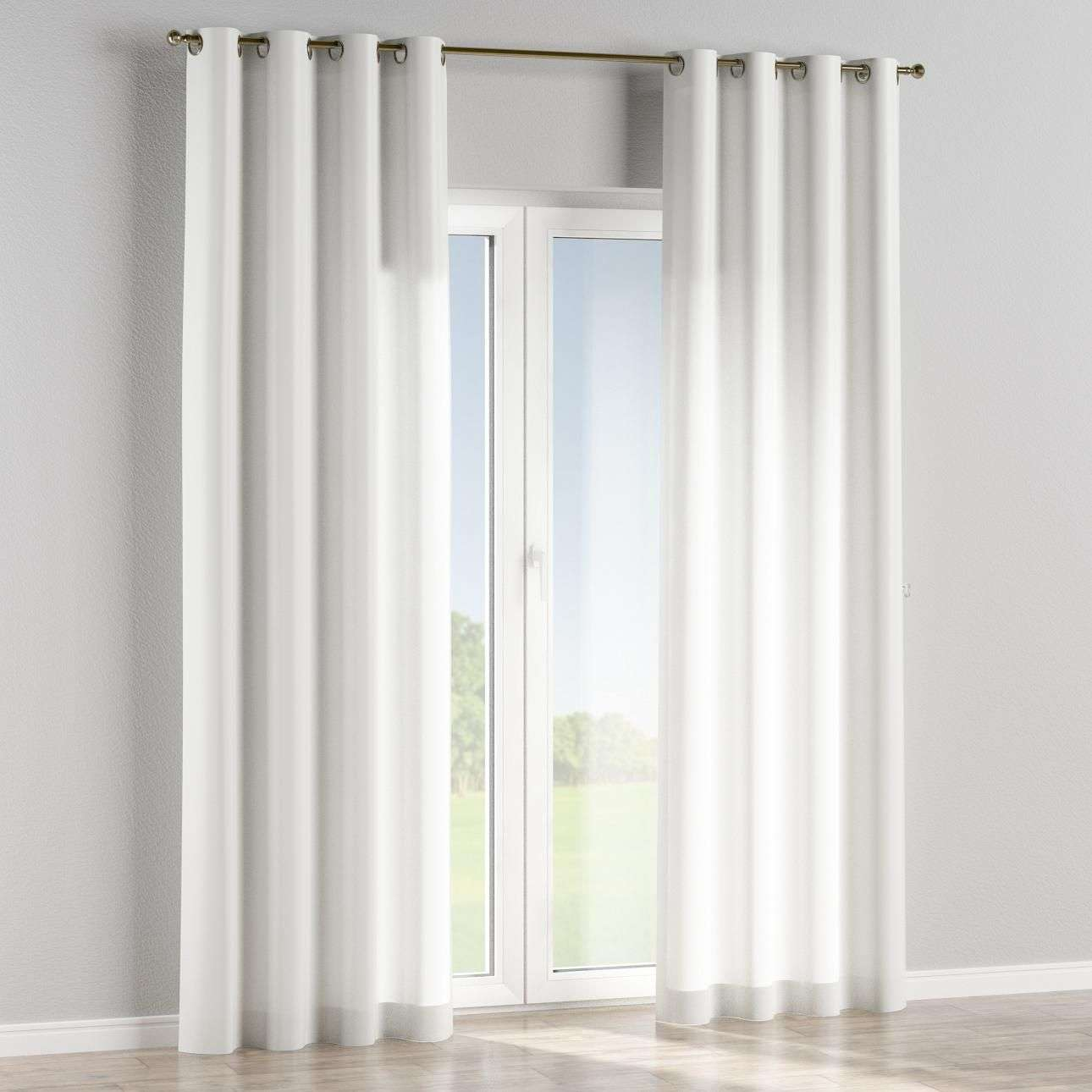 Eyelet lined curtains in collection Linen , fabric: 392-08