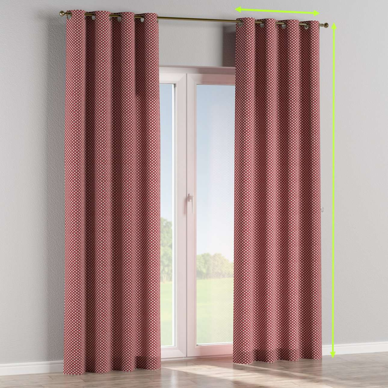 Eyelet lined curtains in collection Nordic, fabric: 630-40